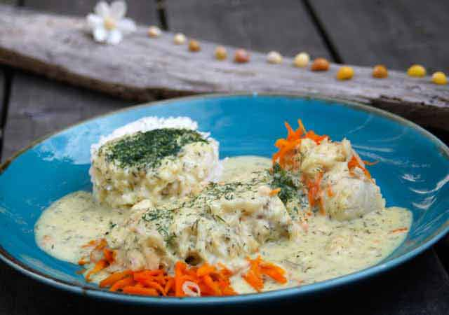 Cod with mustard-dill sauce | Iceland | Fish | Recipe